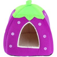 Dog House Foldable Soft Warm Strawberry Dog Bed Cat Bed Rabbit Pets House Kennel Cushion Basket for Animals Puppy Pet Supplies