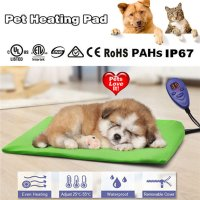 Waterproof Pet Heating Electric Blanket Heat Pad Mat Warm Dog Bed Blankets Thermal Protection Anti Bite Pet Sleeping Mat BS Plug